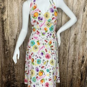 Vintage Pin-up Tie Back Dress - Fruit and Summer!